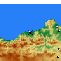 Nearby Forecast Locations - Jijel-Achouat - Map
