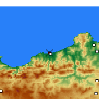 Nearby Forecast Locations - Jijel-port - Map