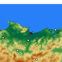 Nearby Forecast Locations - Annaba - Map
