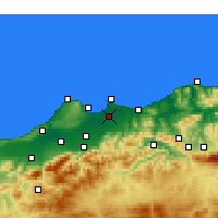 Nearby Forecast Locations - Algiers - Map