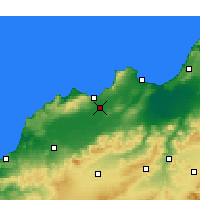 Nearby Forecast Locations - Es Sénia - Map