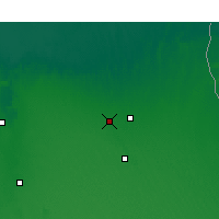 Nearby Forecast Locations - El Oued - Map