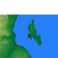 Nearby Forecast Locations - Zanzibar - Map