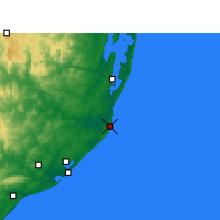 Nearby Forecast Locations - Cap Lucia - Map
