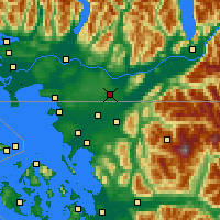 Nearby Forecast Locations - Abbotsford - Map