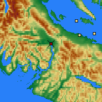 Nearby Forecast Locations - Port Alberni - Map