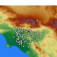 Nearby Forecast Locations - La Verne - Map