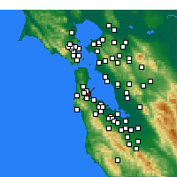 Nearby Forecast Locations - San Francisco - Map