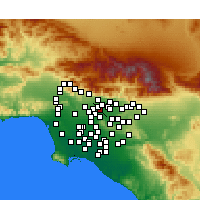 Nearby Forecast Locations - El Monte - Map