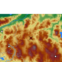 Nearby Forecast Locations - Santa Rosa de Copán - Map