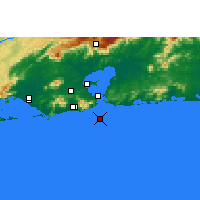 Nearby Forecast Locations - Ilha Rasa - Map