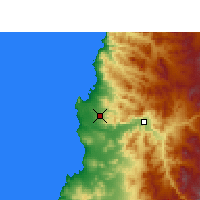 Nearby Forecast Locations - Desierto de Atacama Airport - Map