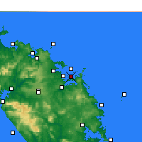 Nearby Forecast Locations - Purerua Peninsula - Map
