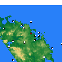 Nearby Forecast Locations - Kerikeri - Map
