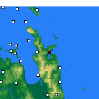 Nearby Forecast Locations - Whitianga - Map