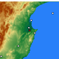 Nearby Forecast Locations - Havelock North - Map