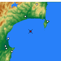 Nearby Forecast Locations - Hawke Bay - Map