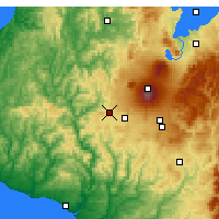 Nearby Forecast Locations - Raetihi - Map