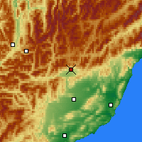 Nearby Forecast Locations - Hanmer Springs - Map