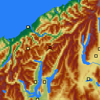 Nearby Forecast Locations - Haast - Map