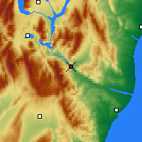 Nearby Forecast Locations - Kurow - Map