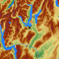 Nearby Forecast Locations - Wanaka - Map