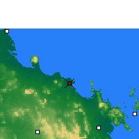 Nearby Forecast Locations - Bowen - Map