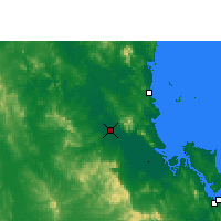 Nearby Forecast Locations - Rockhampton - Map