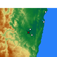 Nearby Forecast Locations - Grafton - Map