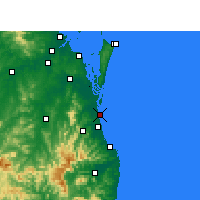 Nearby Forecast Locations - Gold Coast Seaway - Map