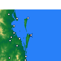 Nearby Forecast Locations - Southport - Map