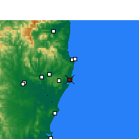 Nearby Forecast Locations - Ballina - Map