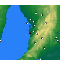 Nearby Forecast Locations - Adelaide - Map