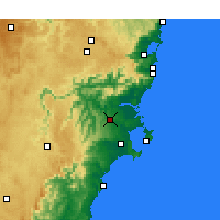 Nearby Forecast Locations - Nowra - Map