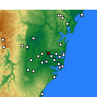 Nearby Forecast Locations - Parramatta - Map