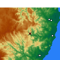 Nearby Forecast Locations - Yarras - Map