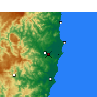 Nearby Forecast Locations - Kempsey - Map