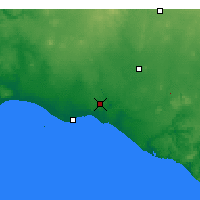 Nearby Forecast Locations - Warrnambool - Map