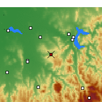 Nearby Forecast Locations - Beechworth - Map