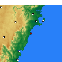Nearby Forecast Locations - Ulladulla - Map