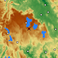 Nearby Forecast Locations - Butlers Gorge - Map
