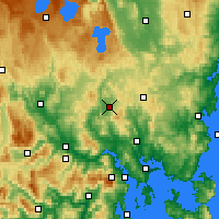 Nearby Forecast Locations - Melton Mowbray - Map