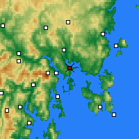 Nearby Forecast Locations - Hobart - Map