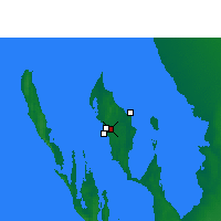 Nearby Forecast Locations - Shark Bay Airport - Map