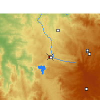 Nearby Forecast Locations - Inverell - Map