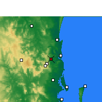 Nearby Forecast Locations - Nambour - Map