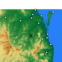 Nearby Forecast Locations - Beaudesert - Map