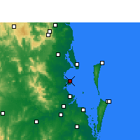 Nearby Forecast Locations - Redcliffe - Map