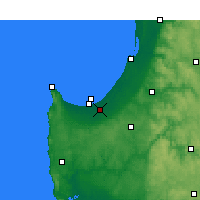 Nearby Forecast Locations - Busselton - Map