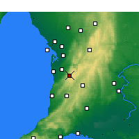 Nearby Forecast Locations - Mount Lofty - Map
